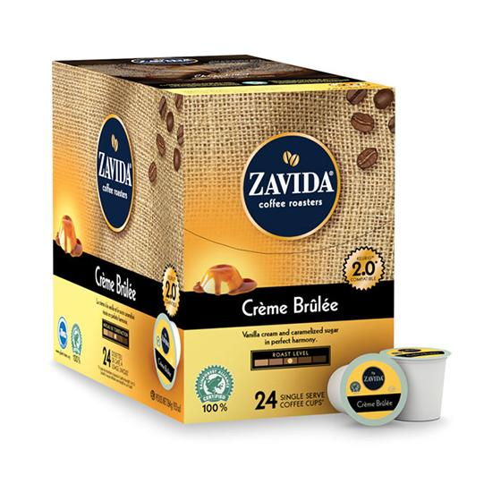 Zavida® Creme Brulee Single Serve Coffee Cups (24 Pack)