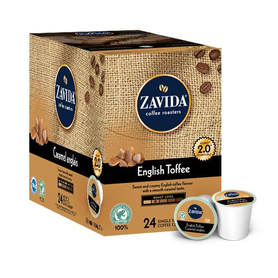 Zavida® English Toffee Single Serve Coffee Cups (24 Pack)