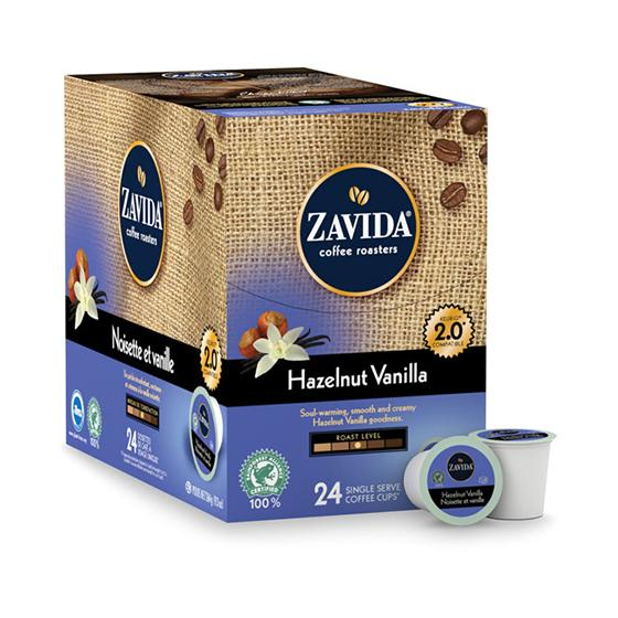 Zavida® Hazelnut Vanilla Single Serve Coffee Cups (24 Pack)