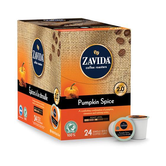 Zavida® Pumpkin Spice Single Serve Coffee Cups (24 Pack)