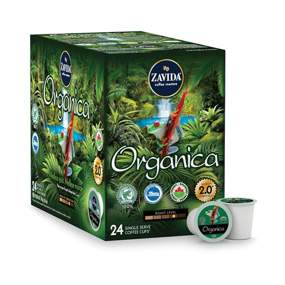 Zavida® Organica Single Serve Coffee Cups (24 Pack)