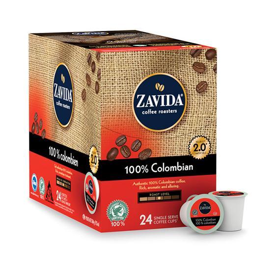Zavida® 100% Colombian Single Serve Coffee Cups (24 Pack)