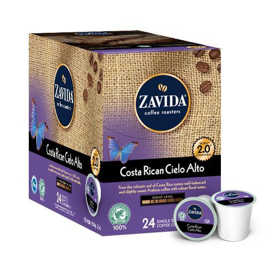 Zavida® Costa Rican Cielo Alto Single Serve Coffee Cups (24 Pack)