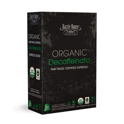 Barrie House Organic Decaffeinato Nespresso Compatible Capsules, 10 Pack