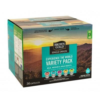 Brown Gold Variety Pack Single Serve Coffee (36 Pack)