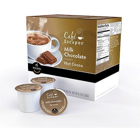 Cafe Escapes® Hot Cocoa Mix Milk Chocolate Single Serve Cups (24 Pack)
