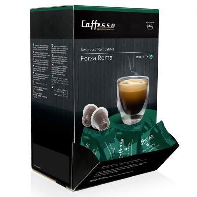 Caffesso Forza Roma Nespresso Compatible Capsules, 60 Pack