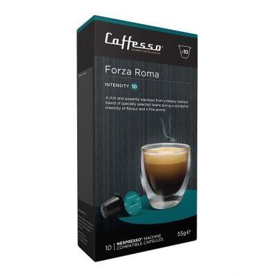 Caffesso Forza Roma Nespresso Compatible Capsules, 10 Pack