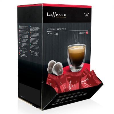 Caffesso Intenso Nespresso Compatible Capsules, 60 Pack
