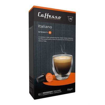 Caffesso Italiano Nespresso Compatible Capsules, 10 Pack