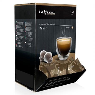 Caffesso Milano Nespresso Compatible Capsules, 60 Pack
