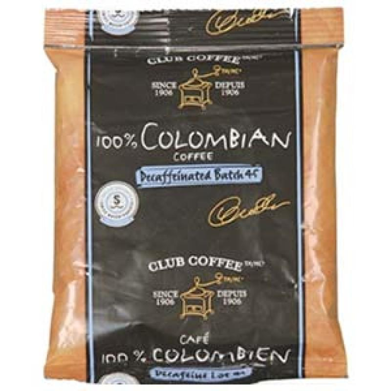 Club Coffee 100% Colombian Decaf Ground Coffee (42 packs x 2 oz)
