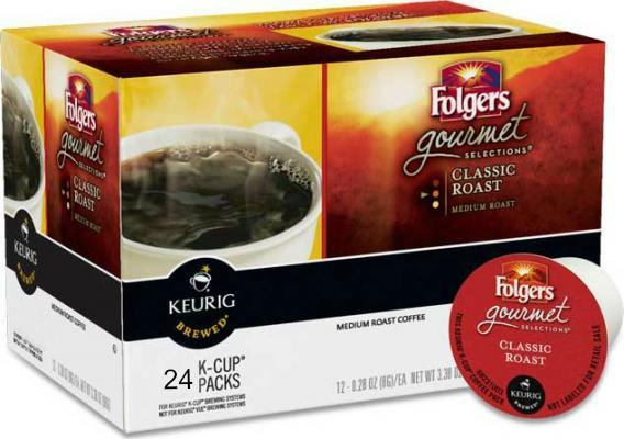 Folgers® Classic Roast Single Serve Coffee Cups (24 Pack)