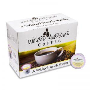 Wicked Awesome Coffee A Wicked French Vanilla Single Serve Coffee Cups (24 Pack)