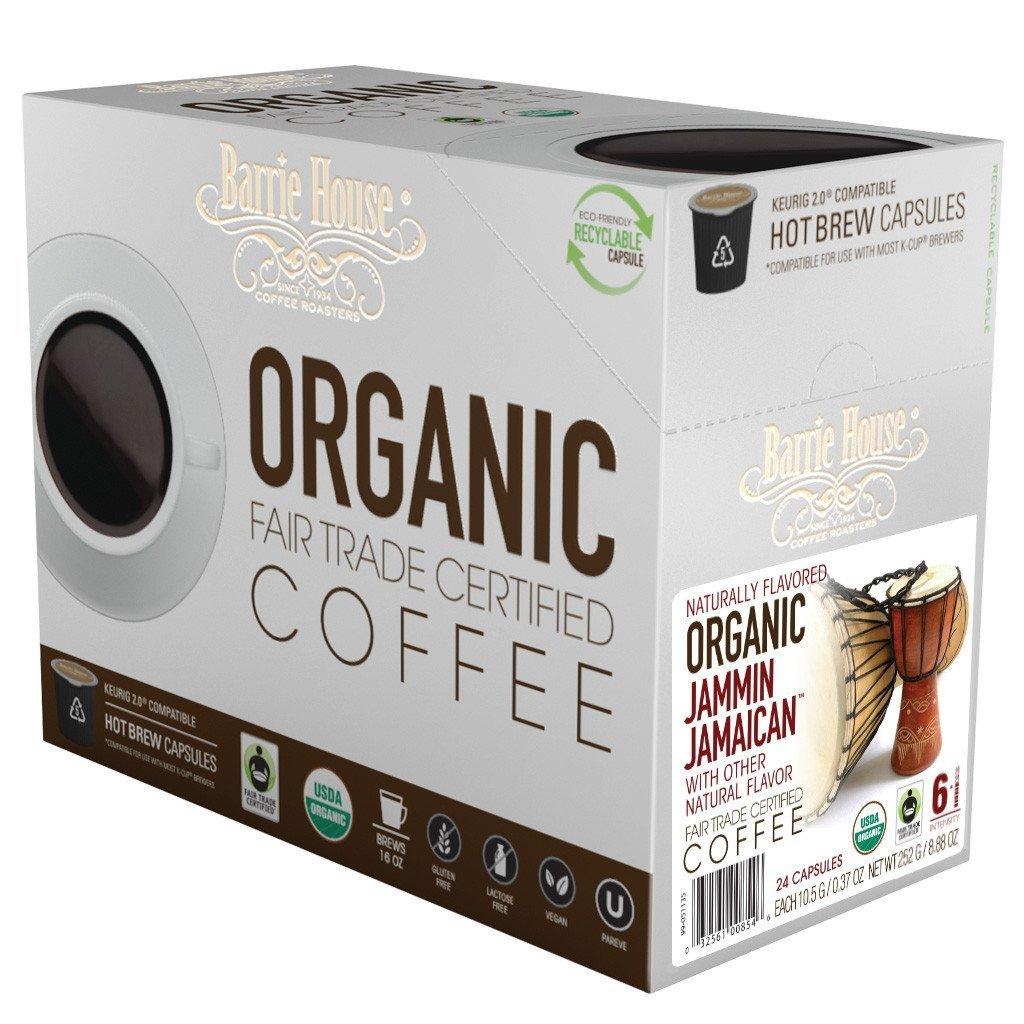 Barrie House Fair Trade Organic Jammin Jamaican Single Serve Coffee Cups (24 Pack)