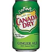 Canada Dry Ginger Ale - 355 mL Cans - 24/Pack