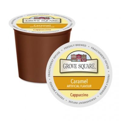 Grove Square Cappuccino Caramel Single Serve Coffee (24Pack)