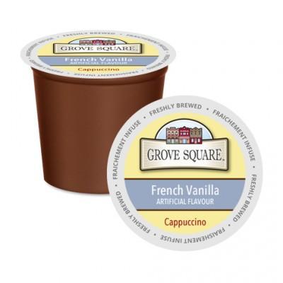 Grove Square Cappuccino French Vanilla Single Serve Coffee (24Pack)