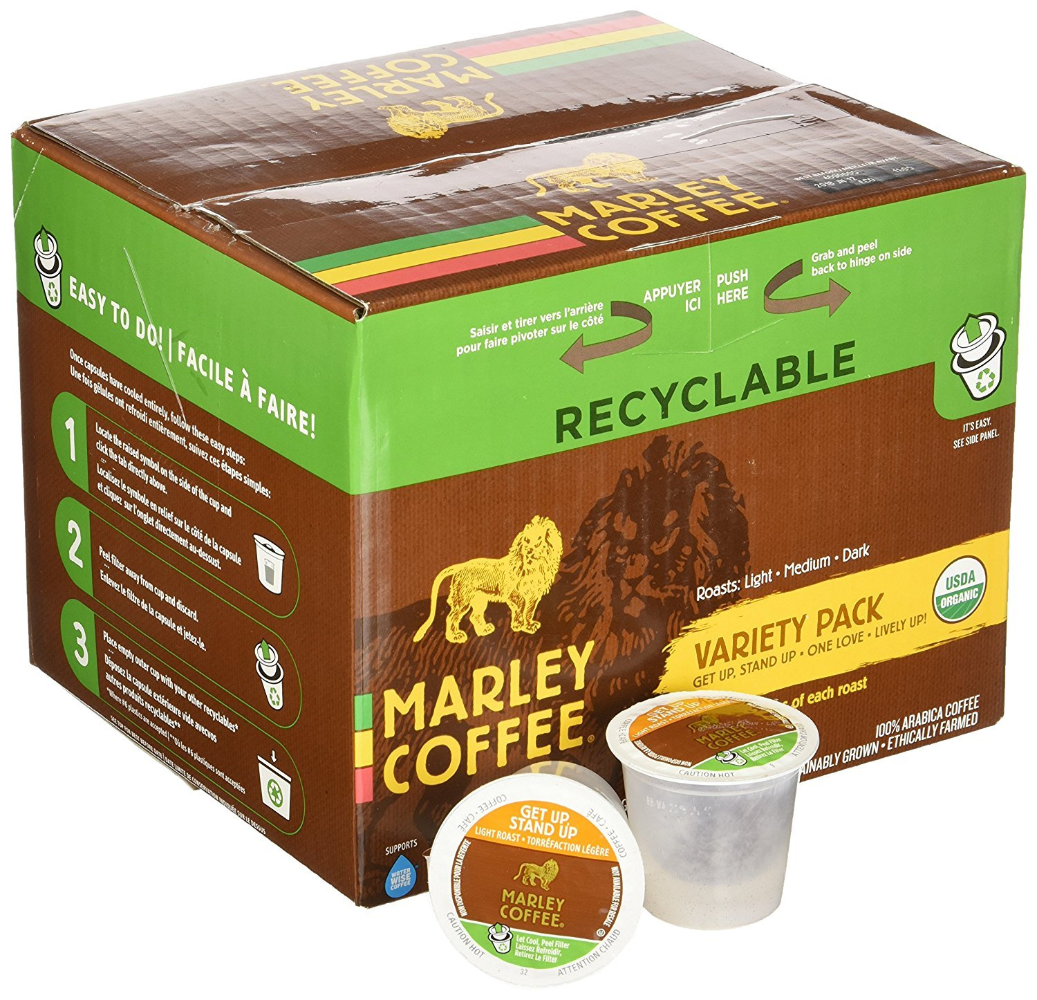 Marley Coffee Get Up Stand Up Single Serve Coffee (24 Pack)