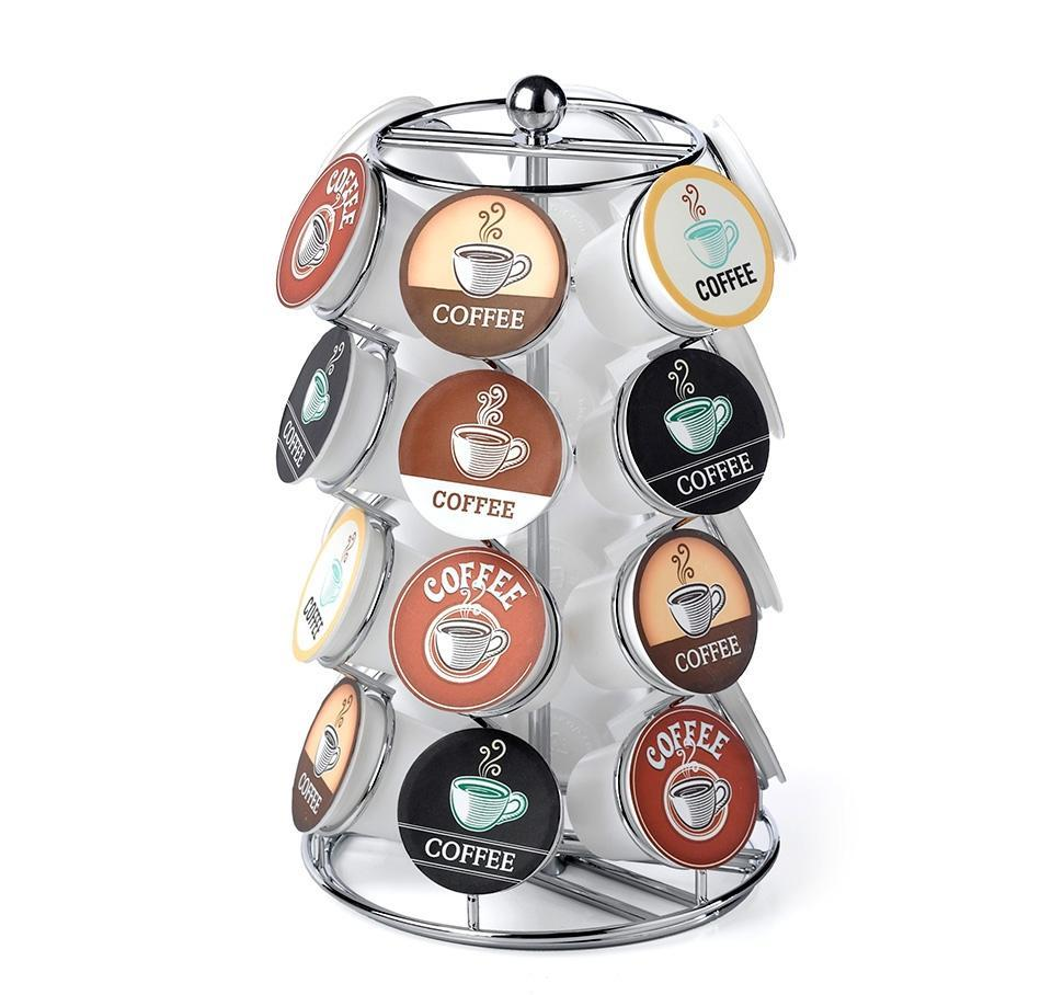 Nifty Solutions 24 Count Coffee Pod Carousel, Chrome