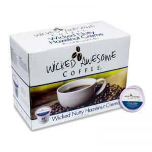Wicked Awesome Coffee Wicked Nutty Hazelnut Cream Single Serve Coffee (24 Pack)