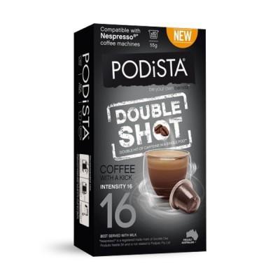 PODiSTA® Double Shot Nespresso Compatible Capsules, 10 Pack