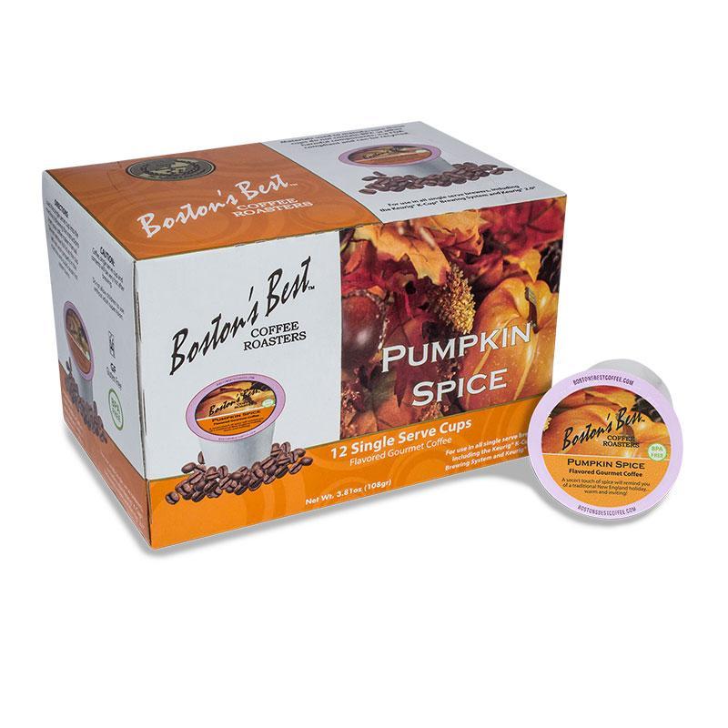 Boston Best Pumpkin Spice Single Serve Coffee Cups (12 Pack)