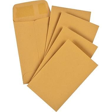 "Business Source #1 (2 1/4"" Width x 3 1/2"") Gummed Kraft Envelopes - 500/Box"