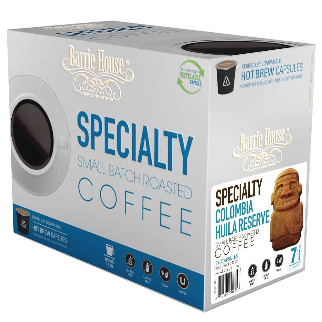 Barrie House Columbia Reserve Huila Single Serve Coffee Cups (24 Pack)