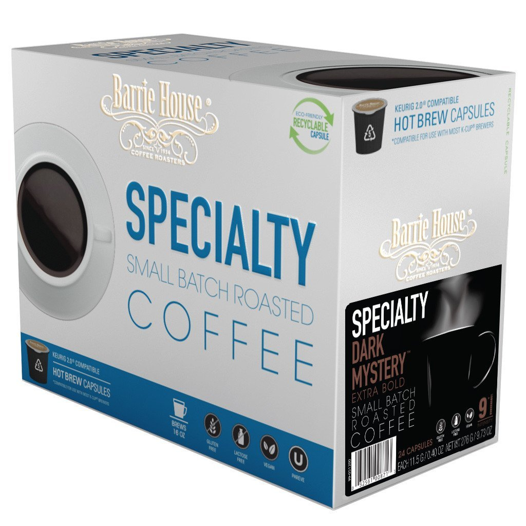 Barrie House Dark Mystery Single Serve Coffee Cups (24 Pack)