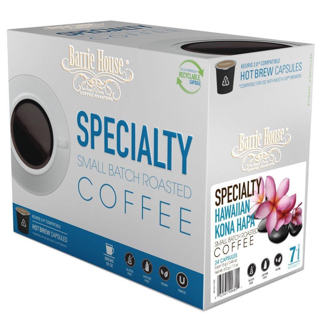 Barrie House Hawaiian Kona Hapa Single Serve Coffee Cups (24 Pack)