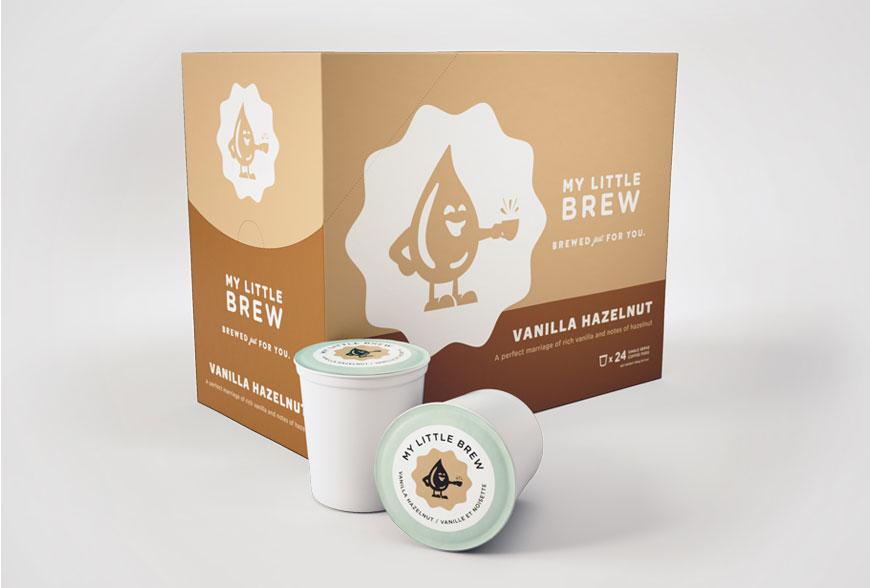My Little Brew Vanilla Hazelnut Single Serve Coffee Cups (24 Pack)