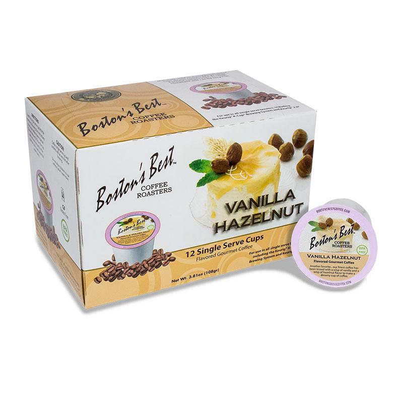 Boston Best Vanilla Hazelnut Single Serve Coffee Cups (12 Pack)